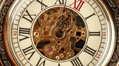 Spiral clock track of time Stock Footage