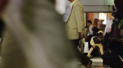 Stock Video Footage of Pedestrian in hurry at Shinagawa Station in Slow Motion