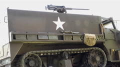 Spartacus military vehicle with gun on top 4k Stock Footage