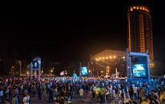 Cosmos Village, Almaty Province, Kazakhstan - 16 August 2015: The festival of Stock Photos