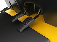 Accelerator pedal, brake and clutch forklift Stock Illustration