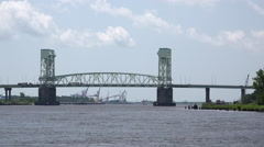 Cape Fear Memorial Bridge in North Carolina 4k Stock Footage