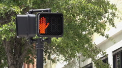 Stock Video Footage of Crosswalk indicator goes from walk to don't walk 4k