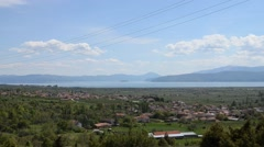 Lake Prespa, Macedonia Stock Footage