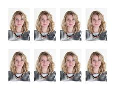Stock Photo of identification photo of a woman - Blond young and pretty