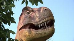 Jurassic like setting with dinosaur behind tree 4k Stock Footage
