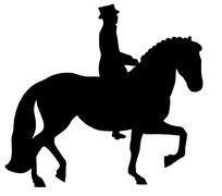 Dressage Horse and Rider Stock Illustration