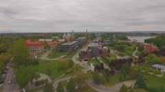 Graphisoft park Budapest AERIAL Stock Footage