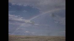 Vintage 16mm film, 1941, rainbow, Stock Footage