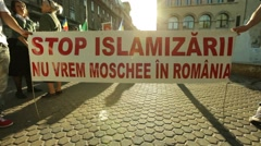 No Mosque Stop Islamization Rally Stock Footage
