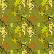 Seamless pattern with white grape Stock Illustration