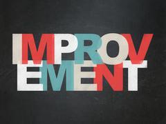 Business concept: Improvement on School Board background - stock illustration