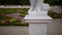 Sculpture near Branicki Palace in Bialystok Stock Footage