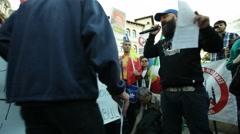 Anti Islamization Protest Stock Footage