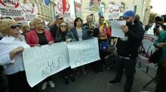 Anti Immigration Islamization Protest Stock Footage