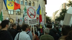 Noua Dreapta Right Party Protesters Stock Footage