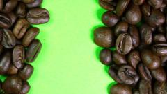 Coffee Beans on a Green Screen Stock Footage