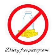 Dairy free vector pictogram Stock Illustration