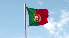 Portugal Flag waving. Stock Footage