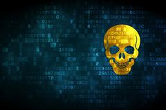 Healthcare concept: Scull on digital background Stock Illustration