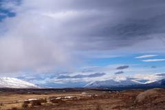 Impressive volcano mountain landscape in Iceland - stock photo