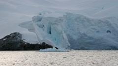 Sailing in Antarctica Landscape Stock Footage