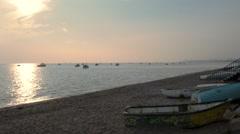 Sunset at Shoeburyness Beach, Essex Stock Footage