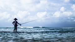 Asian Fisherman - stock photo