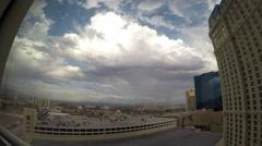 Las Vegas Time-lapse Rainbow and Rain - stock footage