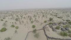 Aerial view of tharr sindh Stock Footage
