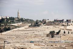 Old jewish cemetery in jerusalem Stock Photos