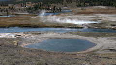 Flood Geyser, Yellowstone National Park Stock Footage