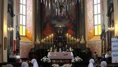 Wedding in the Church, Nesvizh, Belarus. Stock Footage