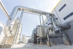 Waste-to-energy facility - stock photo