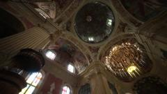 Interior of the Corpus Christi Church, Nesvizh, Belarus. Stock Footage