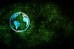 Studying concept: Globe on digital background Stock Illustration