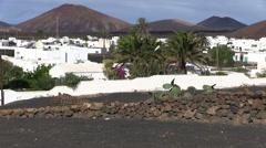 Lanzarote - island - village Stock Footage