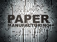 Industry concept: circuit board with Paper Manufacturing - stock illustration