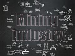 Industry concept: Mining Industry on School Board background Piirros