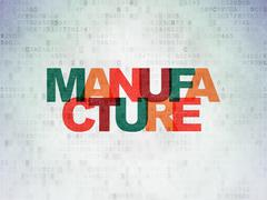 Manufacuring concept: Manufacture on Digital Paper background - stock illustration