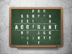 Insurance concept: Accident in Crossword Puzzle - stock illustration