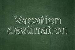 Stock Illustration of Travel concept: Vacation Destination on chalkboard background