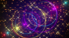 purple abstract background, gold particles, loop - stock footage