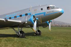 Plane engine start Stock Photos