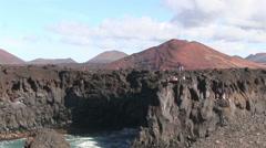Lanzarote - cliffs - ocean Stock Footage