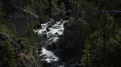 Waterfall, Yellowstone National Park - stock footage