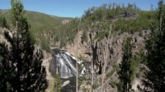 Waterfall, Yellowstone National Park Stock Footage