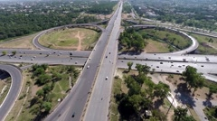 Flyover at Zero point Islamabad - stock footage