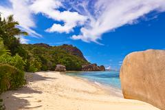 Stock Photo of Famous beach Source d'Argent at Seychelles