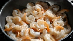 Close up of Fried Shrimps Stock Footage